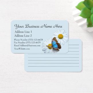 Schmetterlings-u. Gänseblümchen-Visitenkarte Visitenkarte
