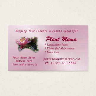 Schmetterlings-u. Lilien-Geschäfts-Karte fertigen Visitenkarte