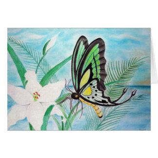 Schmetterlings-und Lilien-Karten Karte