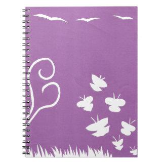 Schmetterlings-, Vogel-und Notizblock