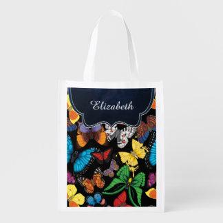 Schmetterlings-Welt besonders angefertigt Wiederverwendbare Einkaufstasche