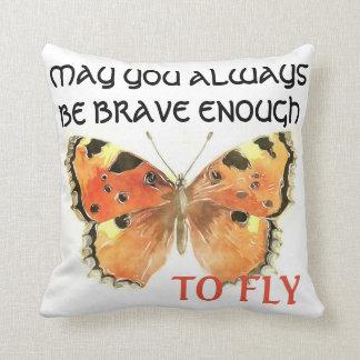 Schmetterlings-Zitat-Kissen Kissen