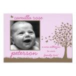 Schmetterlingsbaummädchen-Geburtsmitteilung 12,7 X 17,8 Cm Einladungskarte