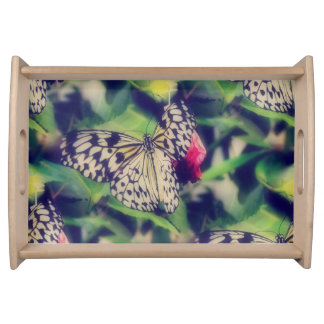 Schmetterlingscollage Tablett