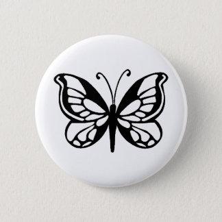 Schmetterlingsentwurf Runder Button 5,7 Cm