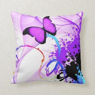 Schmetterlingsfarbenspritzen-Wurfskissen Kissen