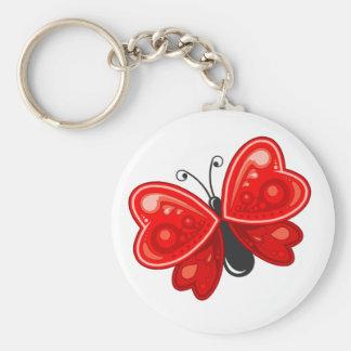 Schmetterlingsherz Schlüsselanhänger