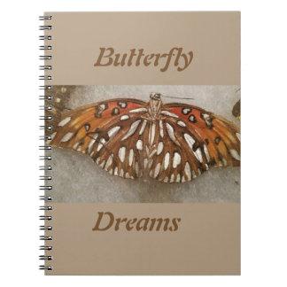 Schmetterlingsnotizbuch Spiral Notizblock