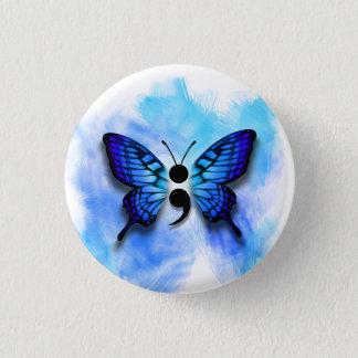 Schmetterlingssemikolonknopf Runder Button 3,2 Cm