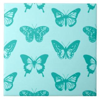 Schmetterlingsskizze, -aqua und -Türkis Fliese