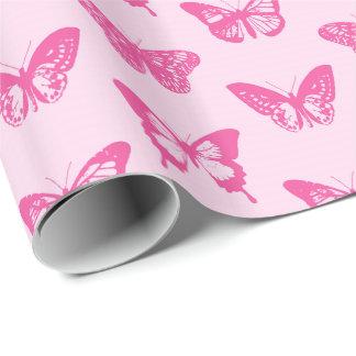 Schmetterlingsskizze, hellrosa und pinkfarben geschenkpapier