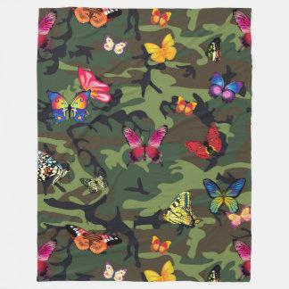 Schmetterlingstarnungsdecke Fleecedecke