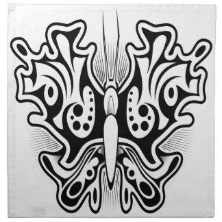 Schmetterlingstätowierungsentwurf Stoffserviette