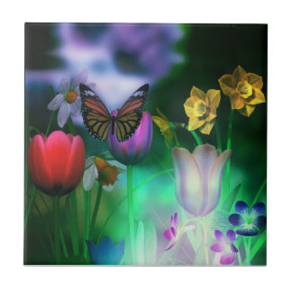 Schmetterlingstraumgartenfliese Keramikfliese
