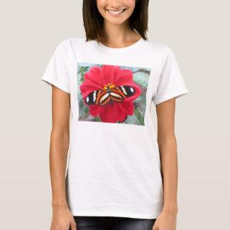 Schmetterlingsumfassungs-Blume T-Shirt