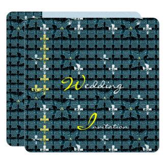 SchmetterlingTessellation Quadratische 13,3 Cm Einladungskarte