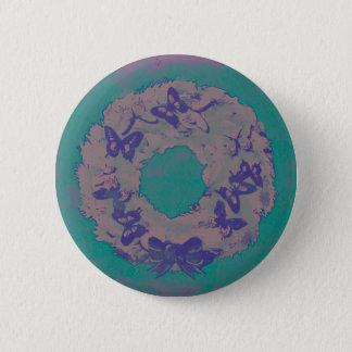 """""""Schmetterlingwreath-"""" Feiertags-Knopf-Button Runder Button 5,7 Cm"""