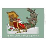 Schmidt-Haus-Cartoon-Weihnachtskarte Grußkarten