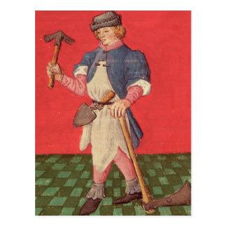 Schmied, von 'Le Livre des Echecs moralisierte Postkarte