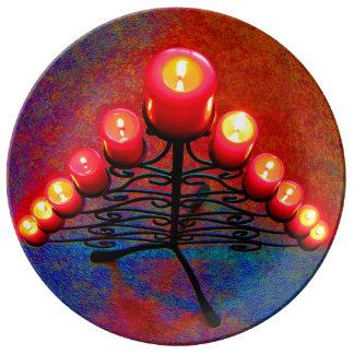 Schmiedeeiserner Weihnachtsbaum,Weihnacht,Advent, Teller
