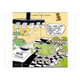 Schmieriger Löffel für Frosch-lustige Geschenke u. Postkarte