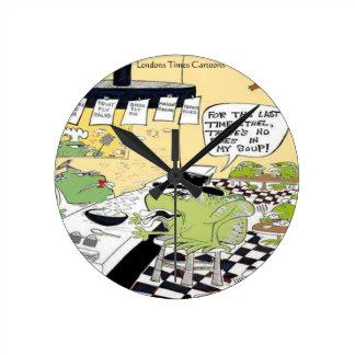 Schmieriger Löffel für Frosch-lustige Geschenke u. Runde Wanduhr