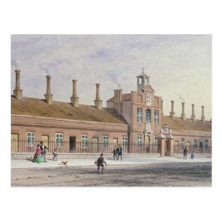 Schmirgel-Hügel-Almosen-Häuser in Rochester-Reihe, Postkarte
