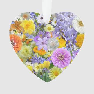 Schmuck - Anhänger - Blumen und Schmetterlinge Ornament