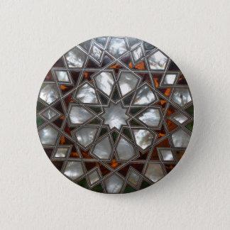 Schmuck-Brosche Runder Button 5,7 Cm