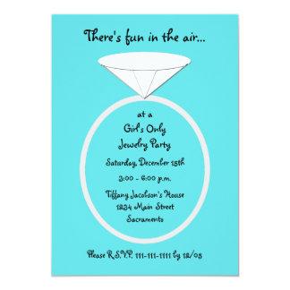 Schmuck-Party Einladungs-Schablone 12,7 X 17,8 Cm Einladungskarte