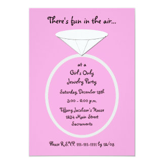 Schmuck-Party laden ein -- Riesiger Ring laden ein 12,7 X 17,8 Cm Einladungskarte