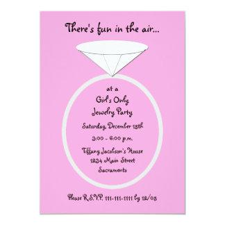 Schmuck-Party laden riesigen Ring einladen ein 12,7 X 17,8 Cm Einladungskarte