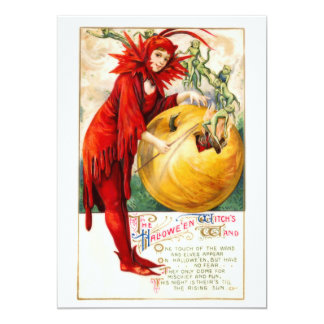 Schmucker: Der Stab der Hexe 12,7 X 17,8 Cm Einladungskarte