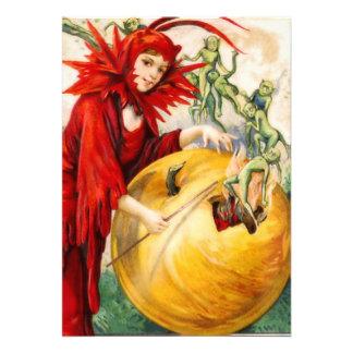 Schmucker Der Stab der Hexe Einladungskarte