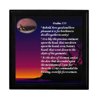 Schmuckkästchen des Psalm-133 Erinnerungskiste