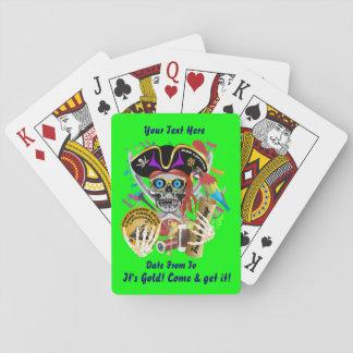 Schmuggeltagesansicht des Piraten-2 über Entwurf Pokerdeck