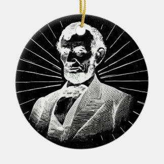 Schmutz Abraham Lincoln Keramik Ornament