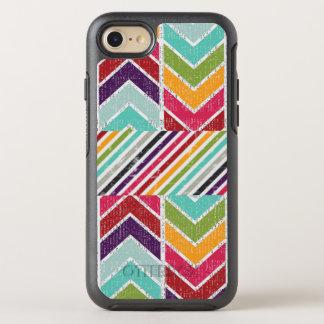 Schmutz-ähnlicher Stammes- Farbpfeil-Hipster OtterBox Symmetry iPhone 8/7 Hülle