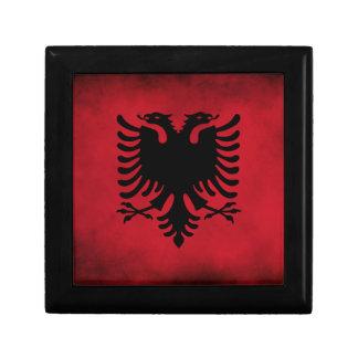 Schmutz-albanische Flagge [hohe Qualität] Kleine Quadratische Schatulle