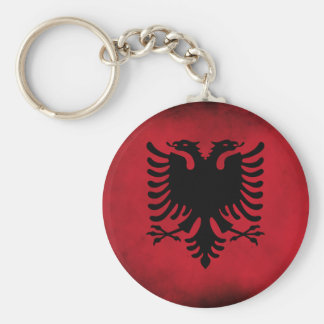 Schmutz-albanische Flagge [hohe Qualität] Standard Runder Schlüsselanhänger