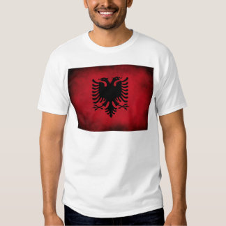 Schmutz-albanische Flagge [hohe Qualität] T-Shirt