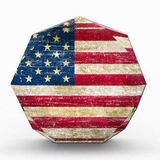 Schmutz-amerikanische Flagge Auszeichnung