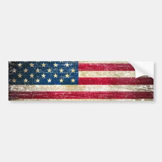 Schmutz-amerikanische Flagge Autoaufkleber