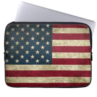 Schmutz-amerikanische Flagge Laptop Sleeve