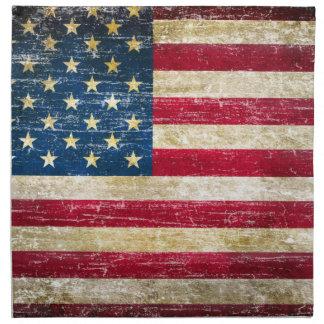Schmutz-amerikanische Flagge Serviette