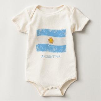 Schmutz-Argentinien-Flagge Baby Strampler