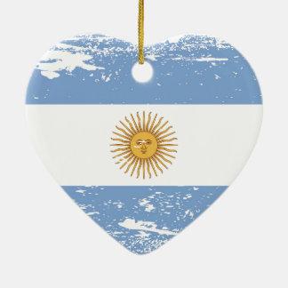 Schmutz-Argentinien-Flagge Keramik Ornament