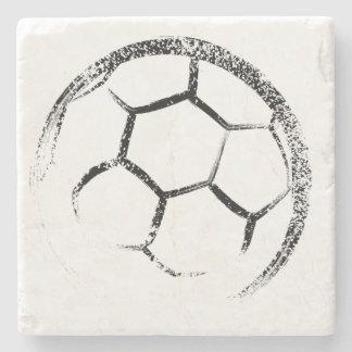 Schmutz-Art-Fußball-Entwurf Steinuntersetzer