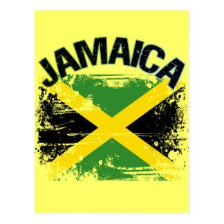 Schmutz-Art-Jamaika-Flaggen-Entwurf Postkarte