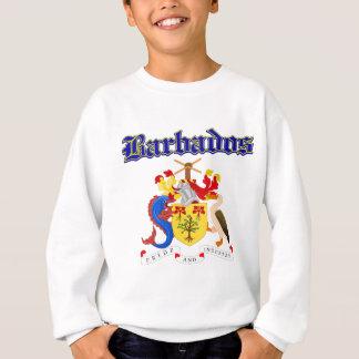 Schmutz-Barbados-Wappen Entwürfe Sweatshirt